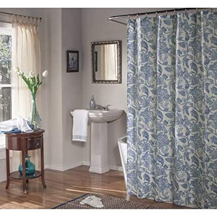 Amazon Valencia Blue Fabric Shower Curtain By MStyle 72 Wide