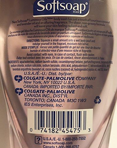 Softsoap-Body-Wash-Luminous-Oils-Coconut-Oil-Lavender-Net-Wt-15-FL-OZ-443-mL-Per-Bottle-Pack-of-2-Bottles