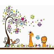 Dekosh Kids Jungle Theme Peel And Stick Wall Decal,. Part 54