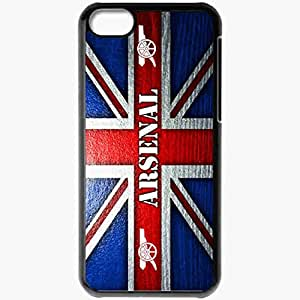 Personalized iPhone 5C Cell phone Case/Cover Skin Arsenal fc arsenal football club the gunners gunners flag gun Black