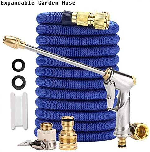 DYWOZDP Expandable Garden Hose Pipe, 2.5 meters Expanding Water Magic Hose 3X Telescopic with Spray Water Gun Garden Hose Pipe Expandable Water Hose