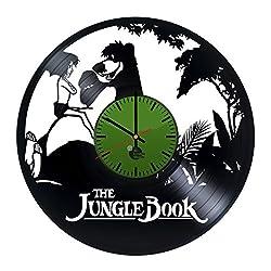 The Jungle Book Cartoon Movie Video Game Handmade Vinyl Record Wall Clock Vin...