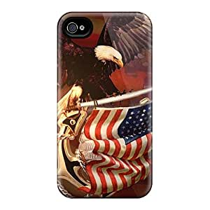 SherriFakhry Iphone 4/4s Shock Absorption Hard Cell-phone Cases Custom Lifelike Patriotic Image [ZMS1258FEXS]