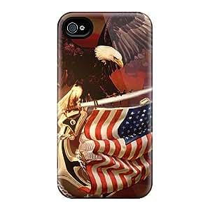Iphone 6plus IMK11140VcJj Unique Design Lifelike Patriotic Pattern Great Cell-phone Hard Cover -PhilHolmes
