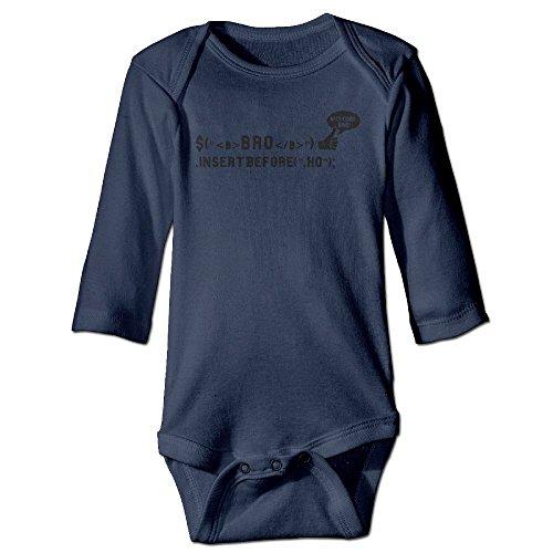 Price comparison product image Richard Unisex Newborn Bodysuits Bro Code (Bros Before Hos) Girls Babysuit Long Sleeve Jumpsuit Sunsuit Outfit 6 M Navy