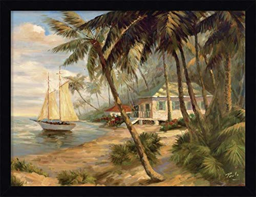 Bolo Key West Hideaway - Framed Canvas Wall Art Print | Home Wall Decor Canvas Art | Key West Hideaway by Bolo | Modern Decor | Stretched Canvas Prints