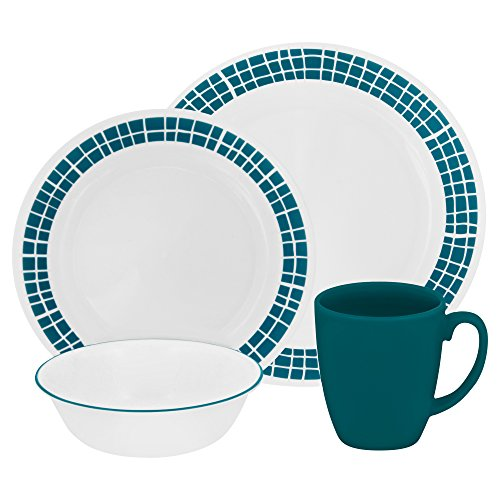 Corelle Livingware Aqua Tiles 16-pc Dinnerware Set