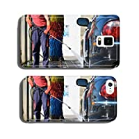 Car wash with a pressure washer cell phone cover case Samsung S5