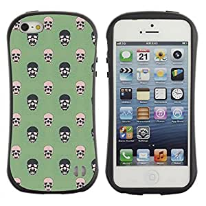 ArtSpace Premium Hybrid Back Case Cover Apple iPhone 5 / 5S ( Simple Skull )