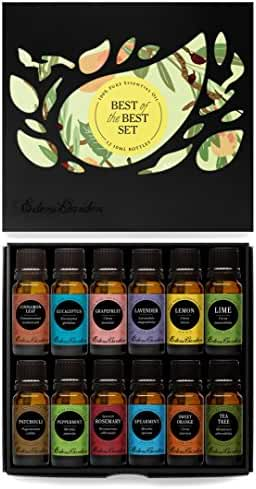 Essential Oil- Beginners Best of the Best Aromatherapy Gift Set- (100% Pure Therapeutic Grade Essential Oils) 12/ 10 ml