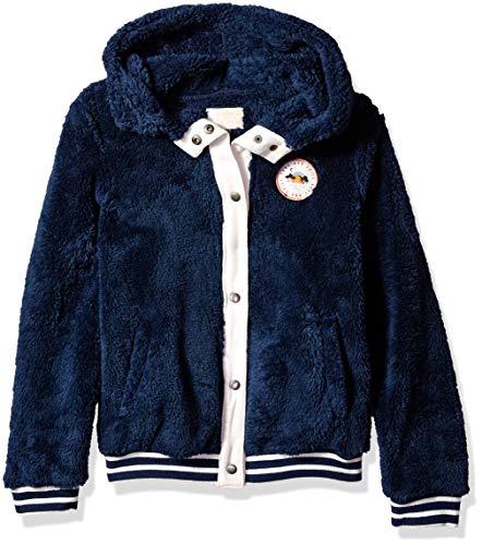 (Roxy Girls' Big Sound of Tree Zip Up Fleece Jacket, Dress Blues, 8/S)