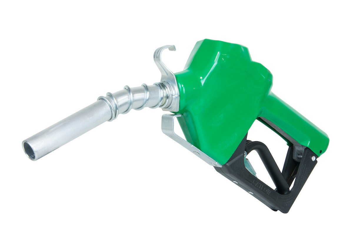 "Fill-Rite N075DAU10 3/4"" 2.5-14.5 GPM (9.5-55 LPM) Automatic Fuel Nozzle with Hook (Green)"