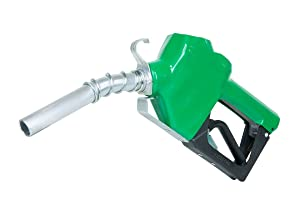 """Fill-Rite N075DAU10 3/4"""" 2.5-14.5 GPM (9.5-55 LPM) Automatic Fuel Nozzle with Hook (Green)"""
