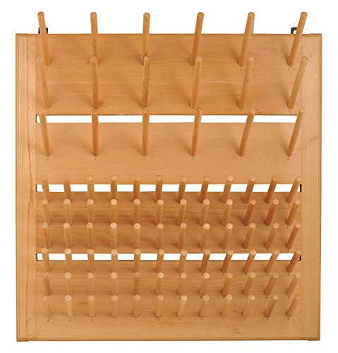 - Eisco CH0001C Wood Draining Rack, Wall Mountable - 90 Pins (72 - 3