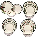 Melange 12-Piece 100% Melamine Dinnerware Set (Berries Collection) | Shatter-Proof and Chip-Resistant Melamine Plates and Bowls | Dinner Plate, Salad Plate & Soup Bowl (4 Each)