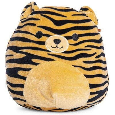 Squishmallow 8 inch Tiger Striped Bear Plush Pillow Toy Brown