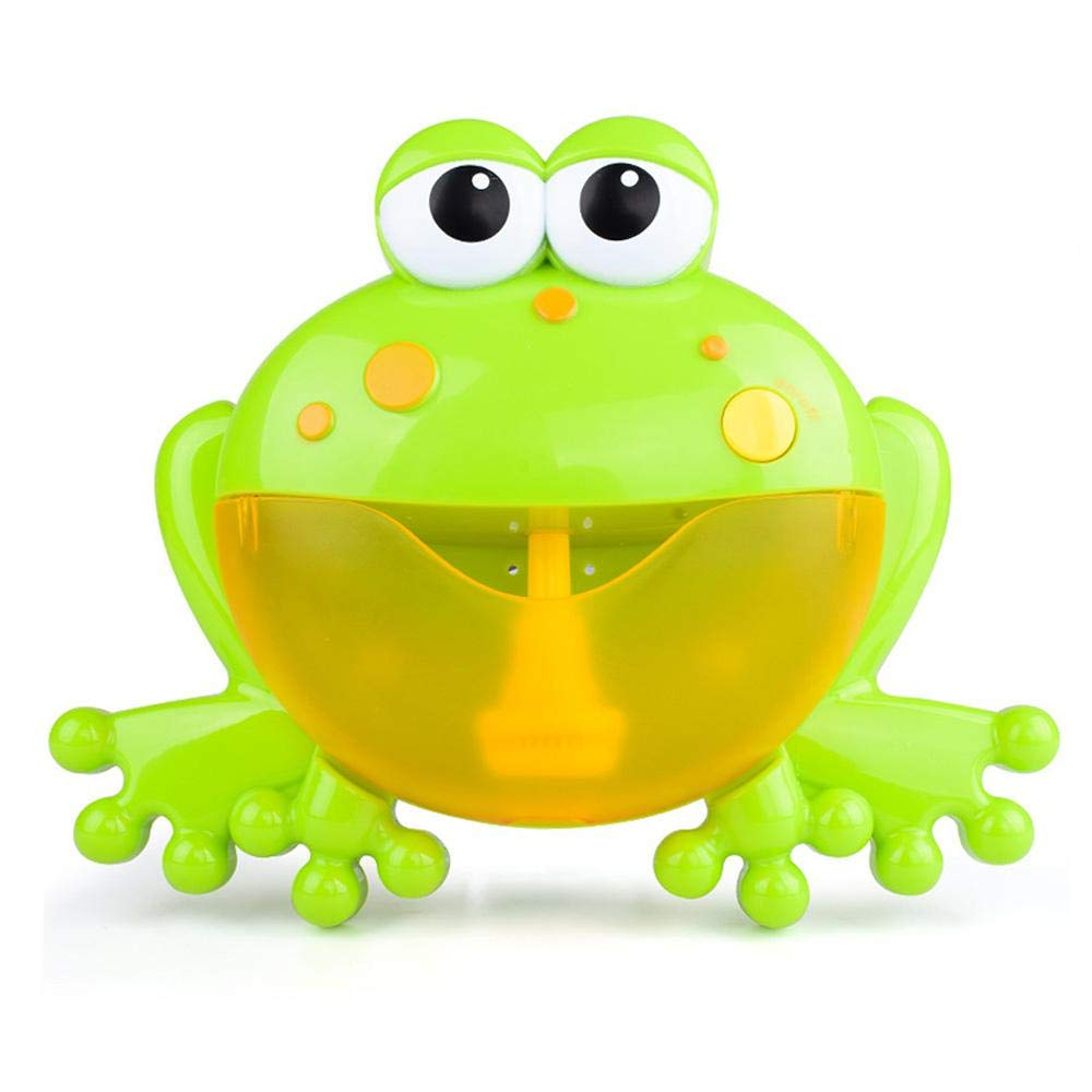 Teepao Baby Bath Bubble Toy Bubble Machine Tub Big Frog Automatic Bubble Maker Blower 12 Nursery Rhymes Bathtub Bubble Toys Infant Baby Children Kids Happy Tub Time (Green)