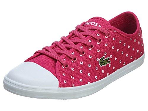 Lacoste Women's Ziane PIQ2 Fashion Sneaker, Pink/White, 8.5 M US