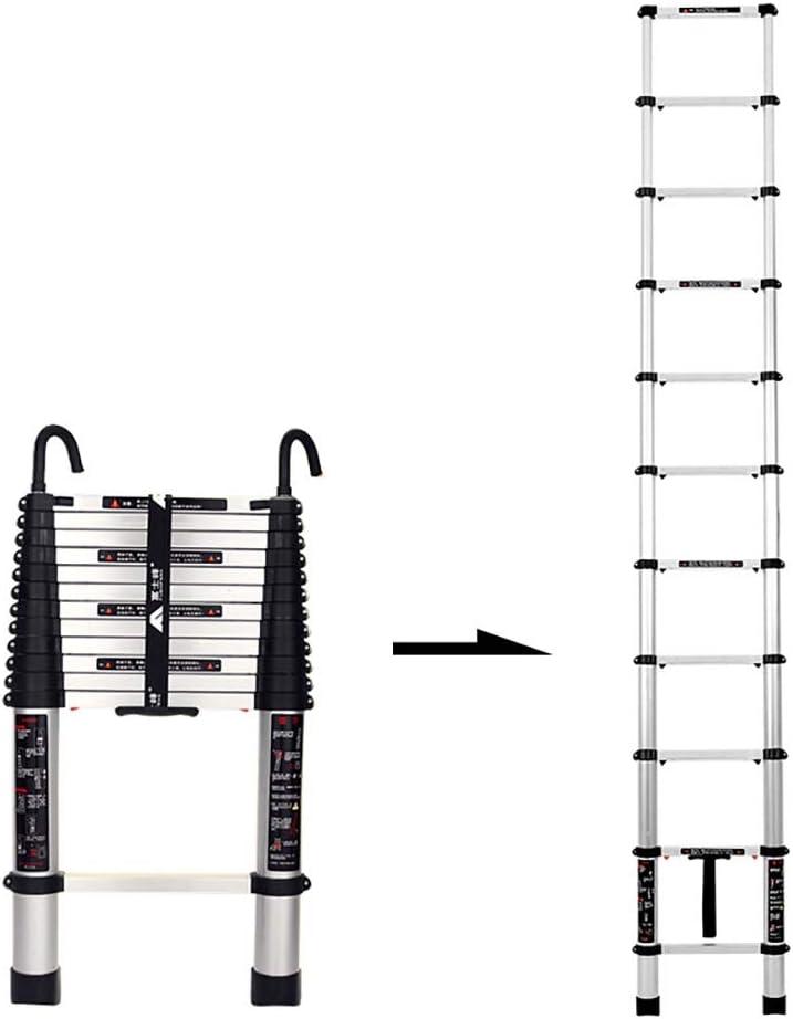 Escaleras Telescópicas Multifunción Plegable de aluminio telescópica Escalera, desmontable ganchos, portátil y ligero Ingeniería de bricolaje Extensión Escalera, 330lbs Capacidad (Size : 4.9m/16ft) : Amazon.es: Hogar