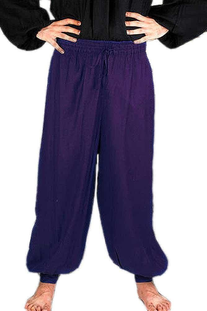 Medieval Poet's Pirate Harem Pants Costume [Royal Blue] MN-AICX-RI7O