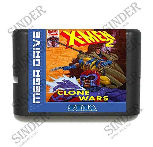 The Crowd Tradensen X-Men 2 Clone Wars 16 Bit Md Game Card for Sega Mega Drive for Genesis