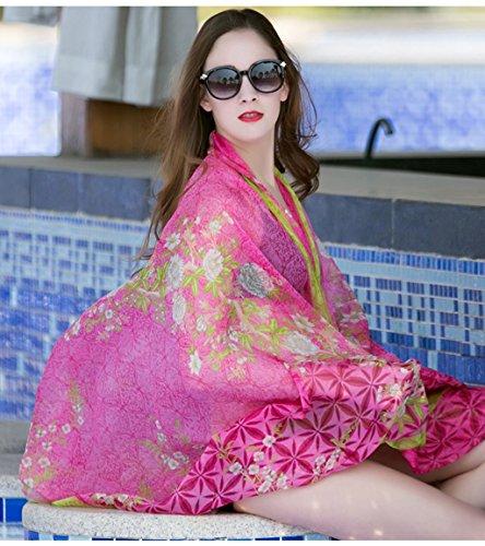 Di Di Seta Solare Estate End Alta Sciarpe Colore Femminile Di Di Protezione Mare Solare il Spiaggia Colore Di Scialle Scialle Un Dual Usare Estate Sesso Sciarpa Sciarpa Telo Asciugamano Viaggio B Protezione O5xwTWq48