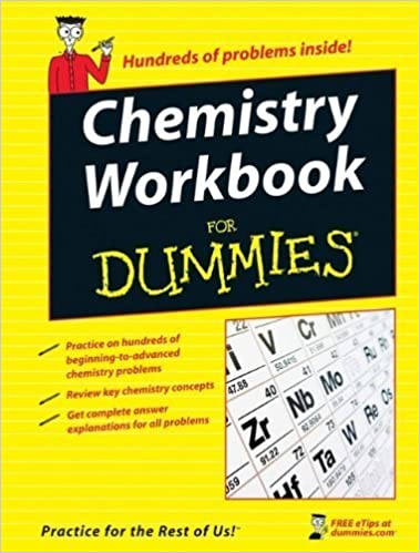 Book Chemistry Workbook For Dummies 1st edition by Mikulecky, Peter J., Brutlag, Katherine, Gilman, Michelle Ro (2008)