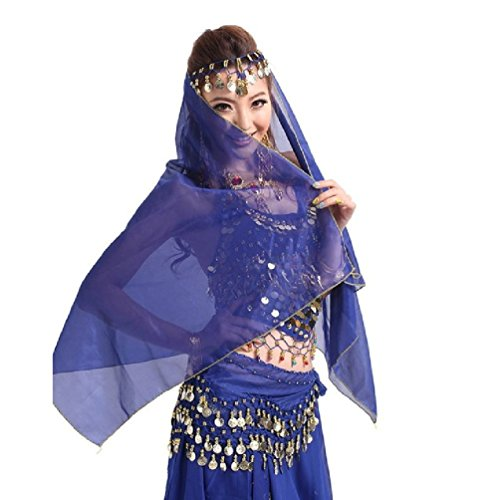 Suzzo Costume Series Belly Dance Head Wear Only Scraf colorful Costume Gold Coin Dancer Dancing Headband accessories
