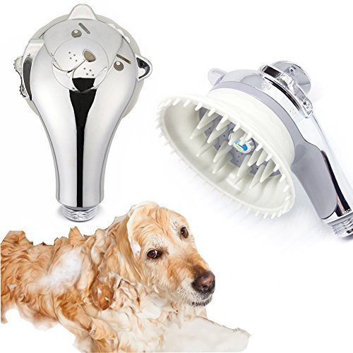 Puppy Shower head Massager Pet Perfect Wash Massage Grooming Water Saver Handheld Shower head (3 Gpm Cat)