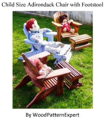 Build Your Own CHILD Size Adirondack Chair Pattern DIY PLANS with Footstool; So Easy, Beginners Look Like Experts; PDF Download Version so you can get it NOW! (English Edition)