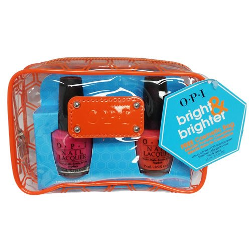 Opi Bright & Brighter with Free Cosmetic Bag