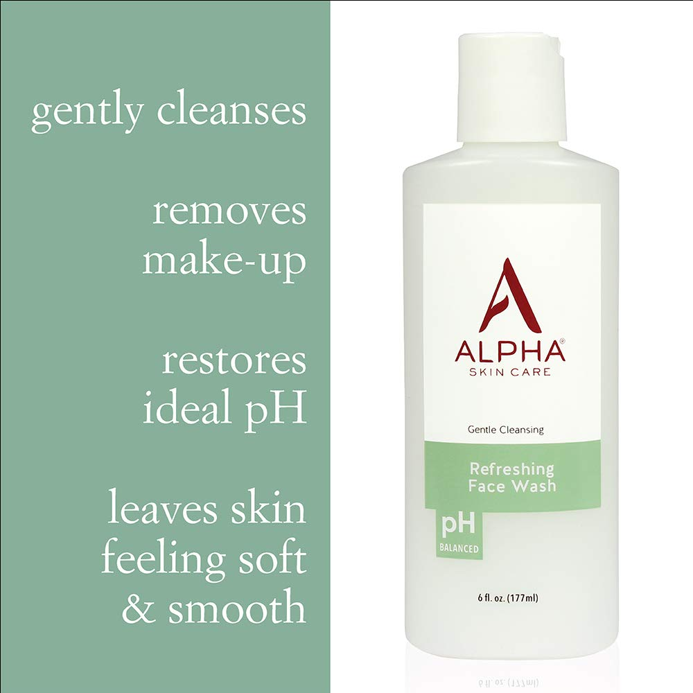 Alpha Skin Care- Introductory Kit Refreshing Face Wash, Essential Renewal Lotion, Essential Facial Moisturizer Basic Daily Skin Care Routine for all Skin Types