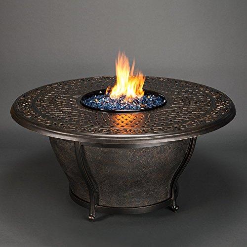 Agio Charleston Gas Fire Pit with Copper Reflective Fire ...
