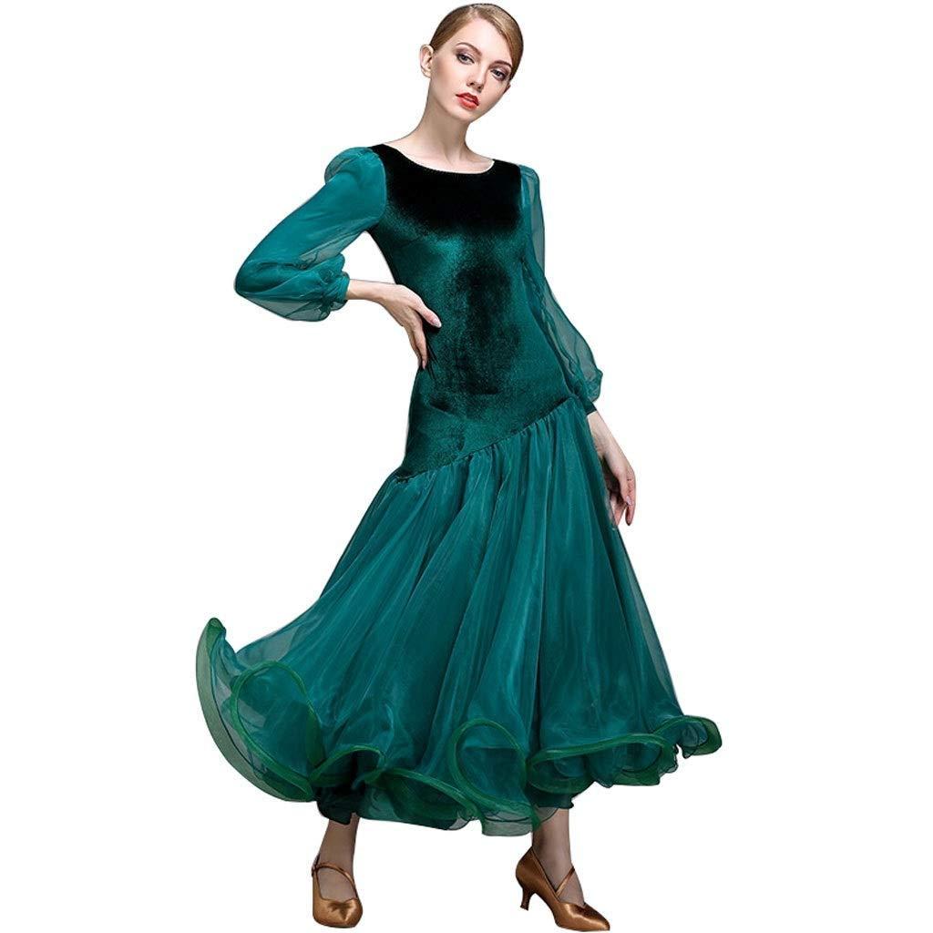 新作人気モデル 女性用ランタンスリーブモダンダンススカートビッグスウィングドレス全国標準舞踊社交ダンス競技衣装 B07QGDMB56 グリーン XL|グリーン グリーン XL XL, クリアホルダーの桑田製作所:da11a740 --- a0267596.xsph.ru