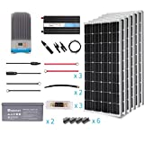 Renogy 600 Watt 12 Volt Solar Complete Kit Monocrystalline with MPPT Charge Controller +Mounts+ 200AH AGM Battery+ 2000W Pure Sinve Inverter