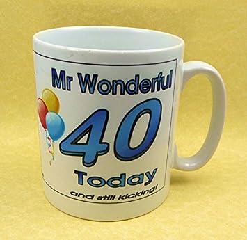 MR. Wonderful - Taza de 40º cumpleaños - * Personalizado ...
