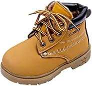 DADAWEN Baby's Boy's Girl's Classic Lace-Up Waterproof Outdoor Hiking Winter Boots (Toddler