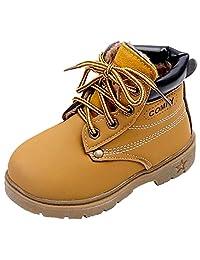 DADAWEN Kid's Boy's Girl's Lace-Up Waterproof Outdoor Winter Boots(Toddler/Little Kid)