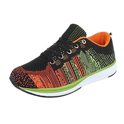 Ital-Design - Zapatillas de Material Sintético para mujer Schwarz Multi BY15280