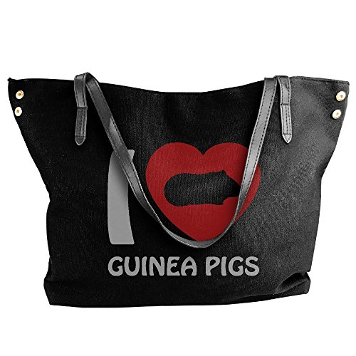 Bags Tote Handbag Black Women's Heart Large Shoulder Canvas Messenger I Pigs Guinea EPWTUqvfT