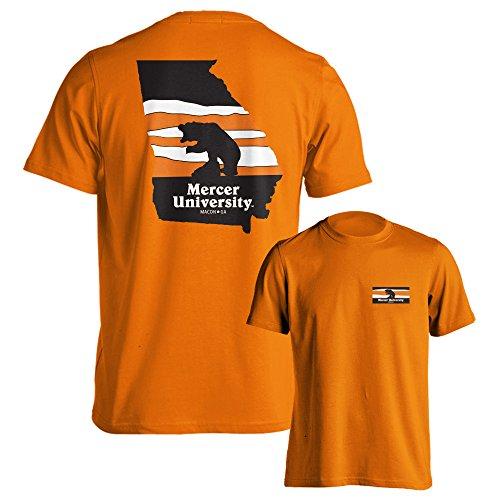 Mercer University Bears MU Landscape Short Sleeve T-Shirt (Orange, - Mu Shop Orange