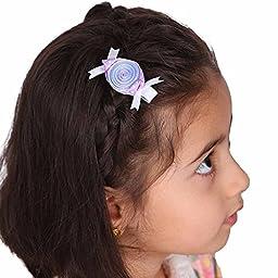LCLHB Flower Animal Grosgrain Hairbows Alligator Hair Clip for Baby Kids Toddler