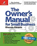 img - for The Owner's Manual for Small Business by Rhonda Abrams (2005-12-01) book / textbook / text book