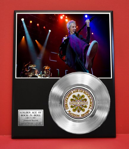Reo Speedwagon Limited Edition Platinum Record Display - Award Quality Music Memorabilia Wall Art - from Gold Record Outlet