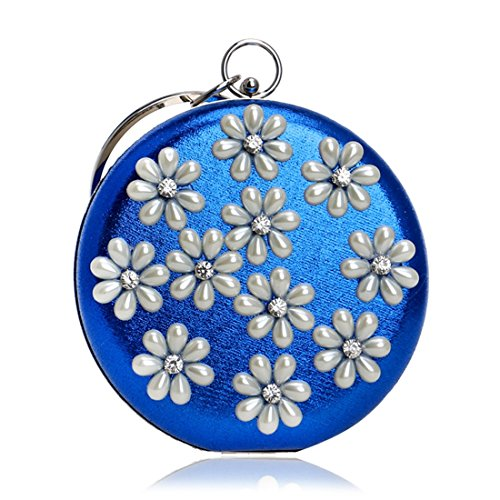 Evening Blue Gold American Fly Evening Bag bag evening Banquet Pearl Color Ladies European Dress And Handbag ggFZw6zq