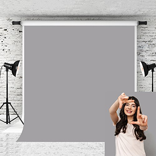 Kate 5x7ft Grey Photography Backdrop Pure Color Solid Microfiber Background for Photographer Photo Studio Prop