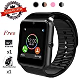 Bluetooth Smart Watch,Touch Screen Sport Wrist Watch Phone for Android iPhone Pedometer Smartwatch Compatible Samsung iOS Men Women Kids