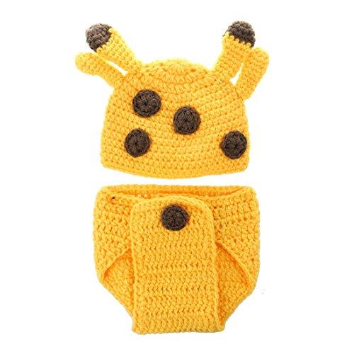 Newborn Baby Giraffe Costume Photography Prop size infant Crochet Costume (Newborn Baby Giraffe Costume)