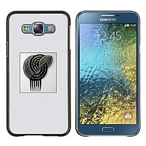Silver Glitter espiral cartel Gris Negro- Metal de aluminio y de plástico duro Caja del teléfono - Negro - Samsung Galaxy E7 / SM-E700