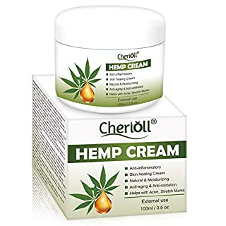 Hemp Cream, Hemp Healing Cream, Natural Hemp Extract, Reduces Signs of Aging, Stretch Marks, Scars, Relax The Skin While Improving Elasticity With The Power of Hemp